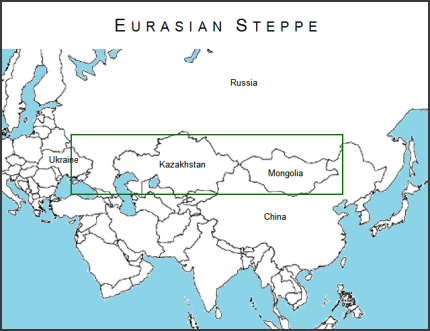 Eurasian Steppe Map