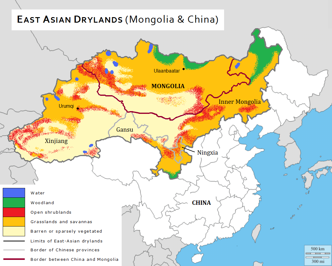 Map of East-Asian Drylands
