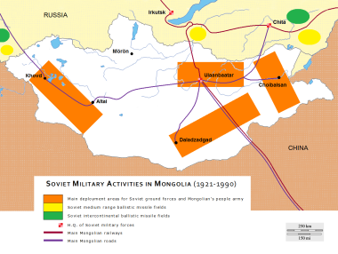 Soviet Military Activities in Mongolia (1921-1990)