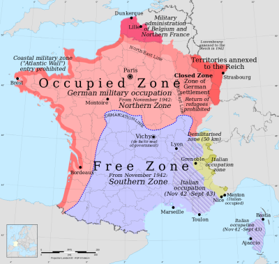 France occupied - WWII