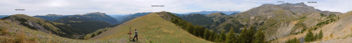 Panorama from the Sommet du Countent