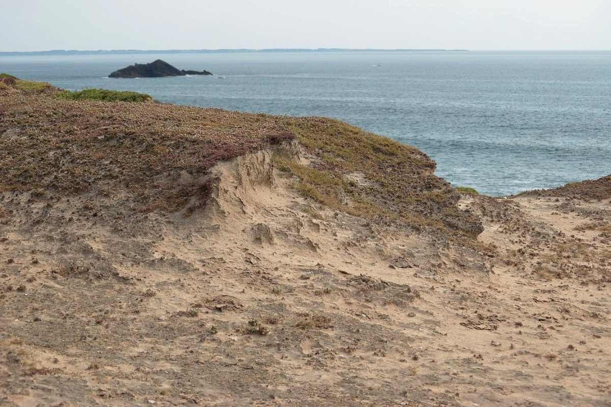 Soil erosion at the Côte Sauvage